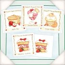 Flower-Soft ~Yummy Recipes~ 8 Cards/4 Designs !!CUTE!!