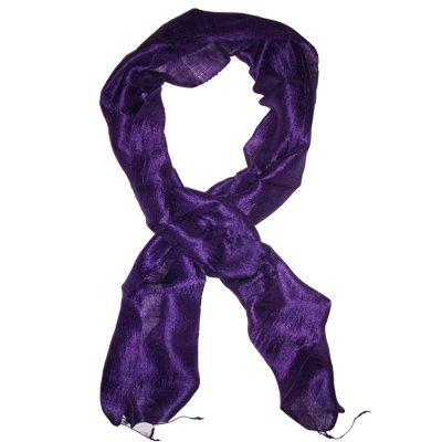 Thai Silk Scarf Purple Color Medium Size