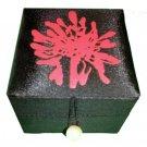 Thai Silk Jewelry Box Black Colour Small Size