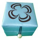 Thai Silk Jewelry Box Light Blue Colour Small Size