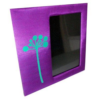 Thai Silk Picture Frame Purple Colour Med Size