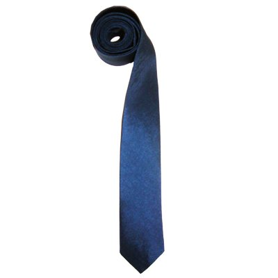 Thai Silk Skinny Necktie Navy Blue Color