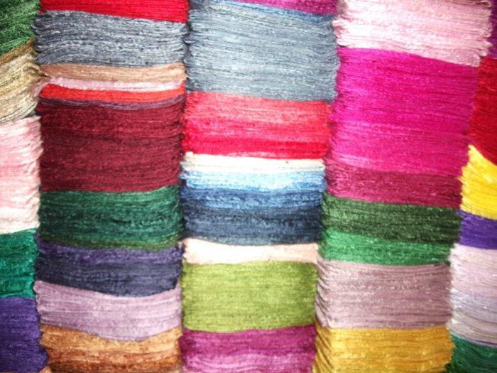 Wholesale Lot 50 Silk Scarves 20 Colors