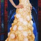 Strapless Flower Cover Up Wedding Dress