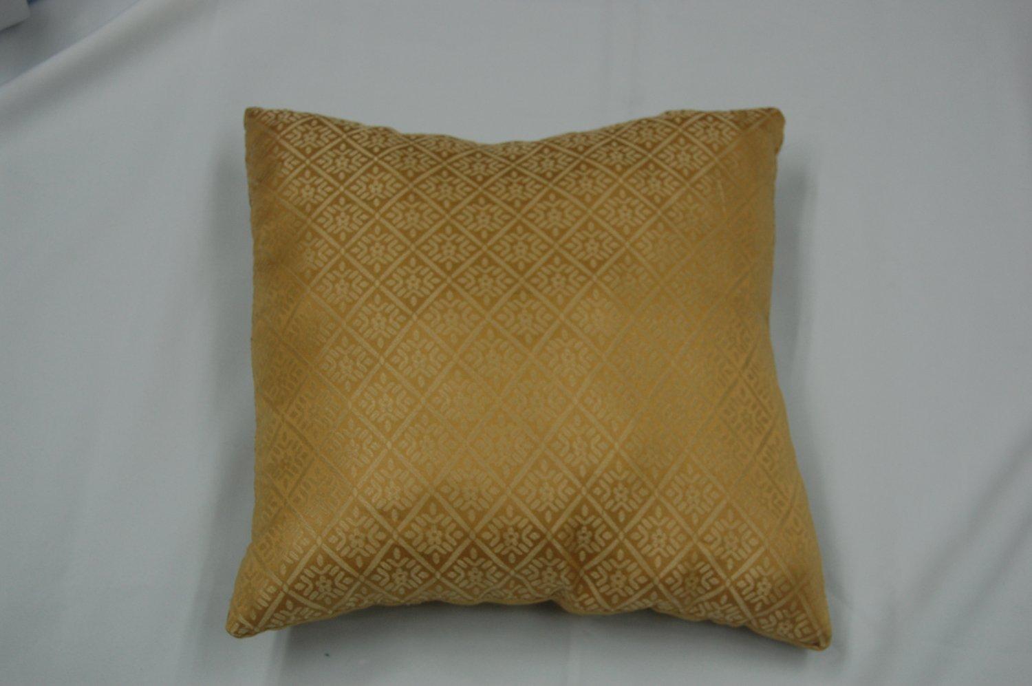 Jacquard Throw Pillow Gold