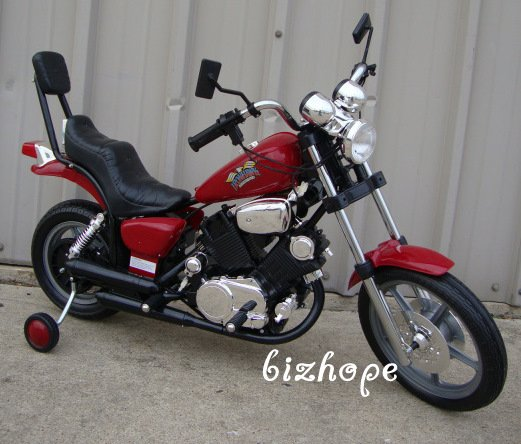 Harley Style, Kids Ride on, Battery Powered, Kids Bike, Motorcycle - Red
