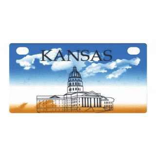 Personalized License Plate, for Kids Electric Ride On Cars, Kids Bikes, Rooms, Lockers, Etc., Kansas