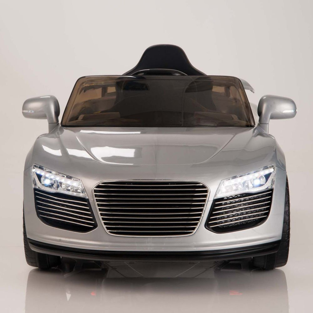 Audi R8 Style, Kids Electric Car, 12V, Ride On, Remote Control, Seatbelt, Mp3 Hookup, Silver