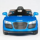 Audi R8 Style, Kids Ride on Electric Car, 12V, Remote Control, Seatbelt, Mp3 Hookup, DK Blue