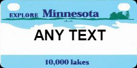 Personalized License Plate, for Kids Ride On Cars, Kids Bikes, Rooms, Lockers, Etc., Minnesota