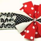 Bitsy Ruffle Ribbon Headband-Minnie Mouse Polka Dot