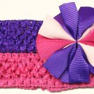 Bitsy Ruffle Ribbon- Pink and Purple