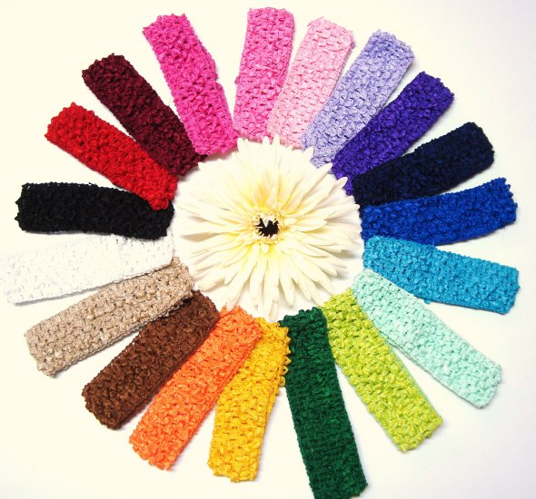"Wholesale 11/2"" Crocheted Headbands"