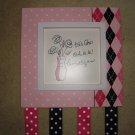 Tres Chic Hair Bow Holder- Pink and Black Polka Dots