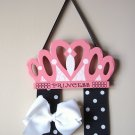 Princess Crown Hair Bow Holder- Pink