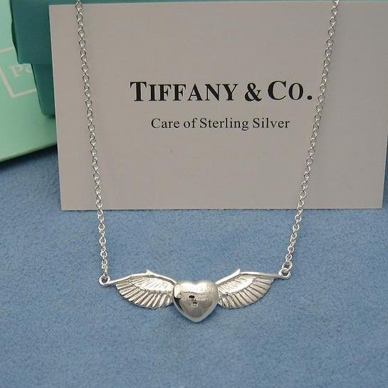 "Tiffany & Co. ""Angel"" Wing necklace, 16""...sterling silver"