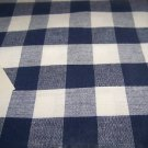 """Navy Blue gingham check  52"""" X 52""""  woven tablecloth"""