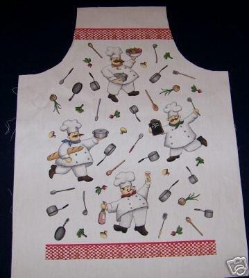 1 APRON SEWING PROJECT CHEFS  FABRIC PANEL