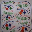 """15 POTHOLDER PANELS HAPPY BIRTHDAY HAPPY BIRTHDAY 6.5"""""""