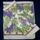 1 BOTTLE/GIFT BAG FABRIC PANEL GRAPE TRELLIS