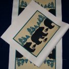 1 TOTE BAG SEWING PROJECT BLACK BEAR PANEL