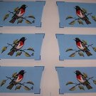 ONE FABRIC PANEL 6 SETS OF OVEN MITTS TOPS SONG BIRD