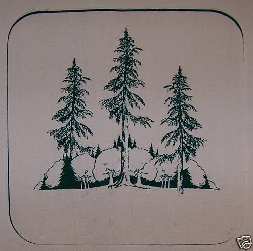 15  EIGHT INCH POTHOLDER PANELS THE WOODS