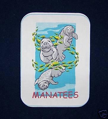 """15 NEW POTHOLDER PANELS MANATEES 6.5""""X 8.5"""""""