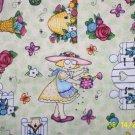 MARY ENGELBREIT FABRIC  BLOOM ,stiff ribbon finish 1 yd