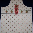 1 APRON SEWING PROJECT CHILI PEPPERS FABRIC PANEL