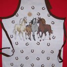 1 NEW ADULT APRON HORSE HORSES MORNING RUN free shippin