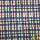 LONGABERGER BLUEBERRY PLAID  FABRIC 5 YARDS ,NEW