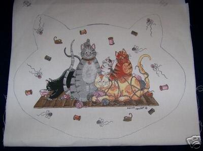 1 CAT PET MAT PANEL PLACEMAT FRISKY FELINES CATS CAT