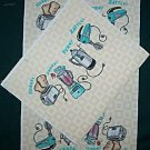 GIFT BAG SEWING PROJECT, 1 THE FIFTIES FABRIC  PANEL
