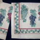 GRAPEVINE GRAPE GRAPES , 2  NWT TERRY KITCHEN TOWELS