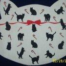 1 NEW CAT PET MAT FABRIC PANEL CHRISTMAS  HOLIDAY