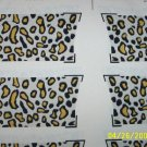 ONE FABRIC PANEL,6 SETS OF OVEN MITTS TOPS LEOPARD SPOT