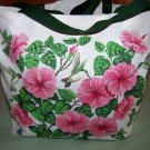 TOTE BAG  NEW /TAGS HUMMINGBIRDS AND HIBISCUS BIRDS