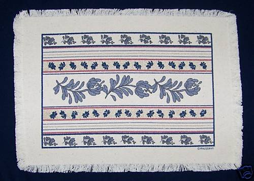 PFALTZGRAFF YORKTOWNE 4 FIRST QUALITY WOVEN PLACEMATS