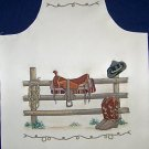 1 APRON SEWING PROJECT HORSE BACK IN THE SADLE PANEL