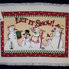 4 MARY ENGELBREIT LET IT SNOW  WOVEN PLACEMATS NWT
