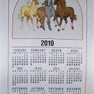 2010 HORSE LINEN CALENDAR