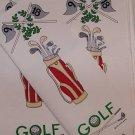 1 BOTTLE/GIFT BAG FABRIC PANEL GOLF