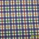 LONGABERGER BLUEBERRY PLAID  FABRIC 1 YARD NEW