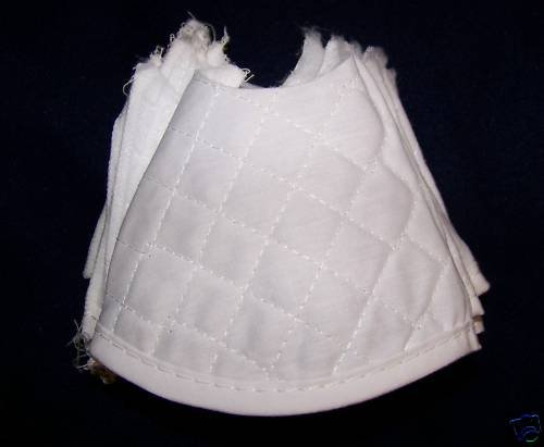 12 WHITE QUILTED TIE TOWEL TOPS