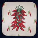 15  EIGHT INCH POTHOLDER PANELS CHILI PEPPERS