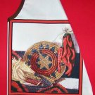 1 NEW ADULT APRON INDIAN MARKET RED PEPPERS DRIED CORN