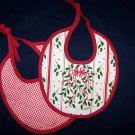 1 NEW LENOX HOLIDAY RED RIBBON ACCENT CHRISTMAS BIB