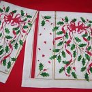 2 NEW LENOX HOLIDAY ( RED RIBBON ACCENT ) LINEN TOWELS