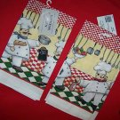 CHEFS CHEF  2 NEW KITCHEN LINEN TOWELS NWT